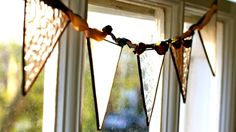 Stained Glass Bunting on folksy!