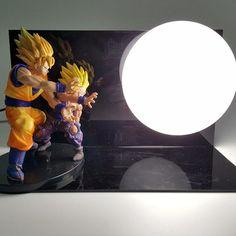 Father Son Goku Gohan Kamehameha 3D Lamp