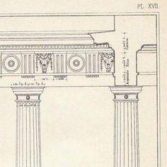 Doric Intercolumniation Architectural Drawing Vignola by carambas, $14.00