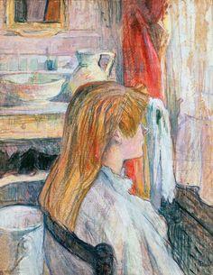 Woman at the Window. Toulouse-Lautrec. 1893. Oil on cardboard. 53 x 41 cm. Musée Toulouse-Lautrec. Albi.