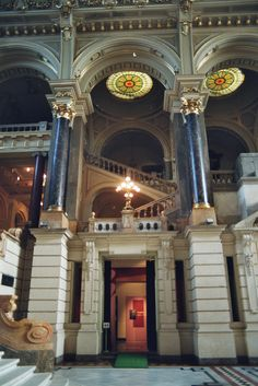 Hall of the Ethnographic Museum of Budapest, Hungary