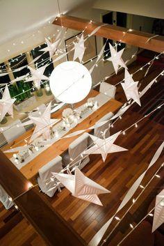 DIY xmas decor - #weddingceilingdecor #weddingstarlanterns #stargarland