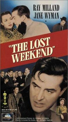 The Lost Weekend. 18th film to win the Best Picture Oscar. 1945. The film was directed by Billy Wilder and starred Ray Milland and Jane Wyman. The film was based on Charles R. Jackson's novel about an alcoholic writer. The film was nominated for seven Academy Awards and won four: Best Picture, Best Director, Best Actor, and Best Writing (Adapted Screenplay).