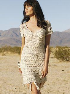 Crochê em circulação: Dois vestidos de crochê.