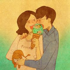 "♥ ICE CREAM LOVE ~ ""I love ice cream!"" ♥ by Puuung at https://www.facebook.com/puuung1?fref=ts ♥"