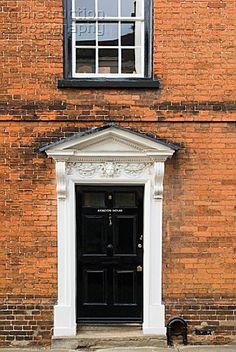 Victorian front door of house UK