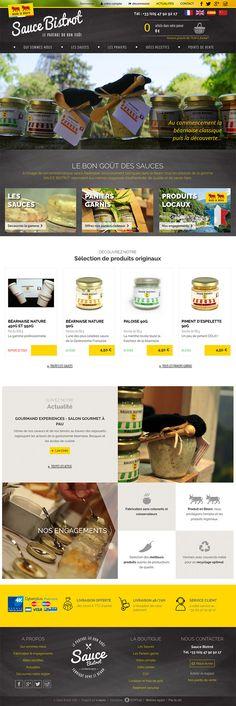 Nouvelle réalisation Startup pour cette boutique en ligne de sauces artisanales, sans colorants ni conservateurs, fabriquées dans le Béarn. Site propulsé par E-majine. www.sauce-bistrot.fr