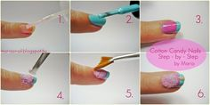 Cotton Candy Nail Art - Step-by-Step