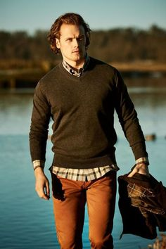 Here's a new photoshoot and video featuring Sam Heughan for Barbour See more photos from the photoshoot after the jump