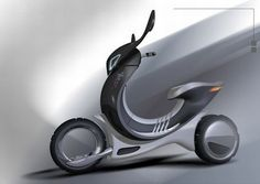 Eco Tech: Motivo electric scooter transforms into a car when needed - Ecofriend Scooter Motorcycle, Motorcycle Design, Classic Motorcycle, Urban Electric, Electric Cars, Electric Vehicle, Scooter Design, Bike Design, Vintage Harley Davidson