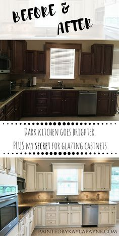 Lighter & Brighter Kitchen Cabinets - How to Update Your Kitchen Cabinets