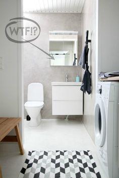 Mikrosementti kylpyhuoneessa // ennen ja jälkeen - Marulla House, Interior, Home, Eclectic Interior, Home Deco, Bathroom, Sauna, Renovations, Laundry Room