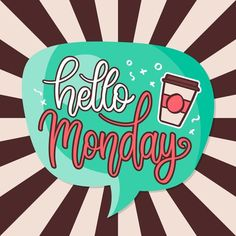 """FREE INSTAGRAM """"HAPPY MONDAY"""" PHRASES Free Instagram, King Logo, Happy Monday, Lettering, Knowledge, Drawing Letters, Brush Lettering"""