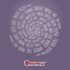 Every one of these words is stronger than cancer. And so are you.