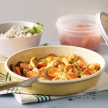 Karotten-Puten-Pfanne mit Wildreis