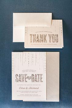 silver wedding invitations - Elvira Kalviste Photography