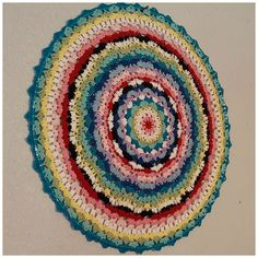 """Carry-On; A Mandala Of Hope (In Memory Of Marinke """"Wink"""" Slump) By The Stitchhikers - Free Crochet Pattern - (ravelry)"""