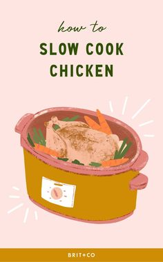 7 Burning Questions About Slow-Cooking Chicken — Answered Salmon Recipes, Pasta Recipes, Dinner Recipes, Slow Cooked Chicken, How To Cook Chicken, Fun Easy Recipes, Healthy Recipes, Cheap Recipes, Cheap Meals
