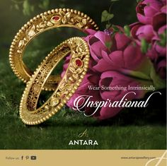 Intricate. Inspirational. Incredible.  The things that describe you, describe Antara too.  Shop online at www.antarajewellery.com  #GoldJewellery #Designer #Masterpiece #IndianJewellery #PureGold #WomenJewellery #HighFashion #BeautifulDesigns #Exquisite #Luxury #Elegance #AntiqueJewellery Gold Ring Designs, Gold Bangles Design, Gold Earrings Designs, Gold Jewellery Design, Gold Jewelry, Jewelery, Gold Earrings Models, Jewelry Design Drawing, Indian Jewelry Sets