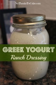 Greek Yogurt Ranch Dressing | No Thanks to Cake.....I used 1 cup ff Greek yogurt, 1/2cup plain almond milk & 1 packet of hidden valley ranch. It is magically delicious.