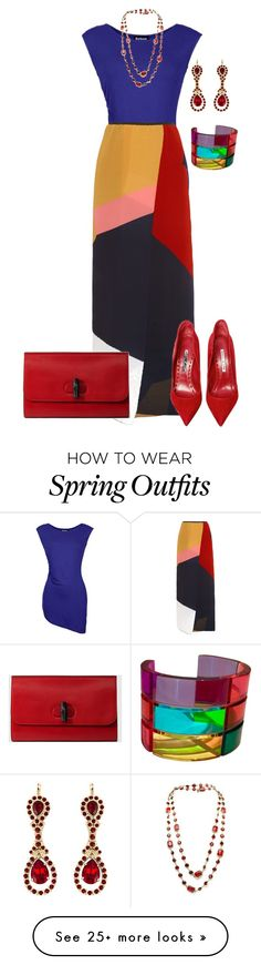 """Untitled #1403"" by beng-gallo on Polyvore featuring Barbour International, Issa, Manolo Blahnik, Chanel, Gucci, Givenchy and Valentino"