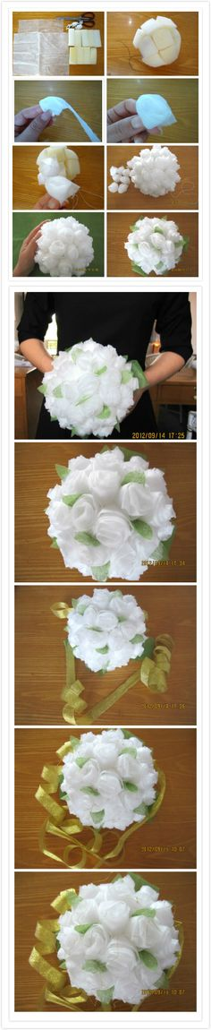 DIY Baby Tissue Paper Flower Bouquet