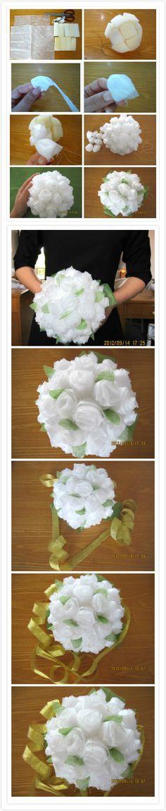 DIY Baby Tissue Paper Flower Bouquet