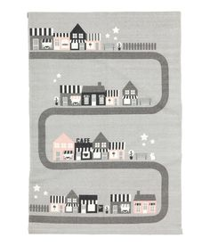 Cotton rug with a motif - Light grey/City - Home All Pastel Nursery, H&m Home, Play Spaces, Big Girl Rooms, Kids Room Design, Kidsroom, Baby Decor, Kids Rugs, Room Rugs