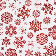 The Container Store > Red Snowflakes on White Gift Wrap $10.99
