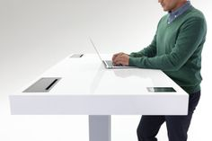 Watch: This Desk Knows When You Should Stand, Sit, Or Just Breathe