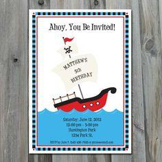 Pirate Birthday Party Invitation  DIY by CharliesPrintables