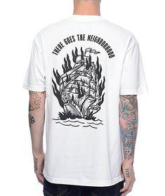 Sketchy Tank Neighborhood White T-Shirt. St LogoBlack ScreenA ...