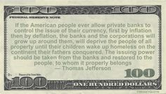 Thomas Jefferson Money Quotation saying controlling the ebb and flow of cash in our society is a complex process of regulation, taxation and legislation that banks should have less control of. Thomas Jefferson said: If the American people ever allow private banks to control the issue of their currency, first by inflation then by deflation, …