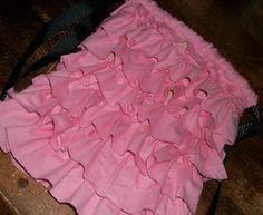 Craft Goodies: Ruffled Cinch Bag {Mini} Tutorial...Cutest bags EVER!!!
