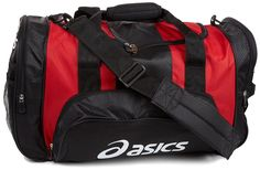 ASICS Huddle Medium Duffle Bag -- Click image for more details. (This is an Amazon Affiliate link and I receive a commission for the sales) Duffel Bags, Briefcase, Asics, Messenger Bag, Backpacks, Amazon, Medium, Link, Stuff To Buy