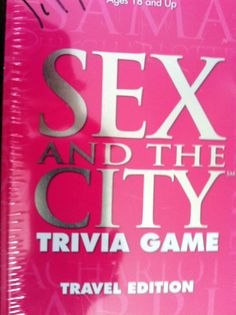 Fun car travel game to play with Dad. Sex and the City Trivia Game Travel Ed. in Tin $12