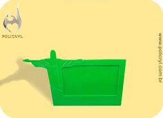 Porta retrato feito de acrílico verde.  Frame produced in green acrylic.
