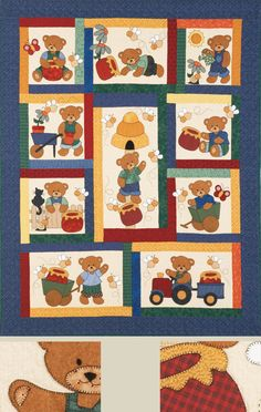Kids Quilts - Honey Bears Pattern