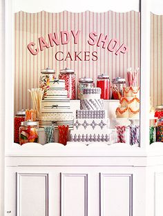 Candy shop cakes