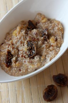 Kirsch-Nuss-Porridge - New Ideas Health Breakfast, Paleo Breakfast, Baked Oats, Health Eating, Muesli, Smoothies, Oatmeal, Good Food, Food And Drink