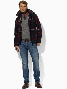 Polo Ralph Lauren  Newman Wool Plaid Coat  Price: $795.00