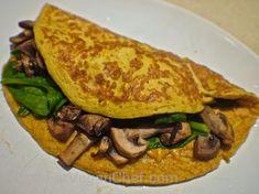 The Best Silken Tofu Omelette Recipe by lowfatveganchef.com
