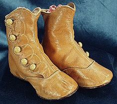 Vintage high button baby shoe