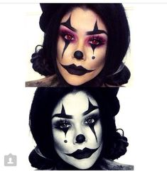 Clown makeup for halloween cute/sexy/creepy all at the same time!