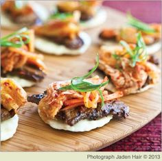 Korean Beef Bites from Steamy Kitchen's Healthy Asian Favorites by Jaden Hair Cookbook Recipes, Kitchen Recipes, Wine Recipes, Asian Recipes, Healthy Recipes, Healthy Meals, Beef Recipes, Easy Recipes, Healthy Food