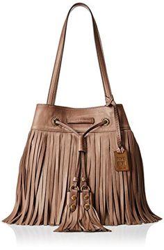 Frye Heidi Fringe Bucket Shoulder Bag, Grey Soft Vintage Leather, One Size FRYE http://www.amazon.com/dp/B00R366T5E/ref=cm_sw_r_pi_dp_xSy8vb0H6AFSK
