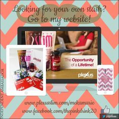 """Have you heard about """"the pink drink""""? Ask me now! Want your own stash? Head over to my website and click """"shop""""! www.plexusslim.com/mekamarie or go to my Facebook page, contact me, and learn more! www.facebook.com/thepinkdrink20 #plexusworldwide #plexusslim #healthandwellness #plexus"""