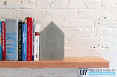 Concrete Bookends | 7 DIY Concrete Projects You Can Make With One $5 Bag Of Concrete Mix