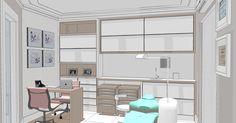Projeto de Consultório Odontológico em Florianópolis - SC por AD Progettare Arquitetura e Decoração Ltda.