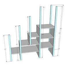 Ana White | Build a Sweet Pea Garden Bunk Bed Storage Stairs | Free and Easy DIY Project and Furniture Plans